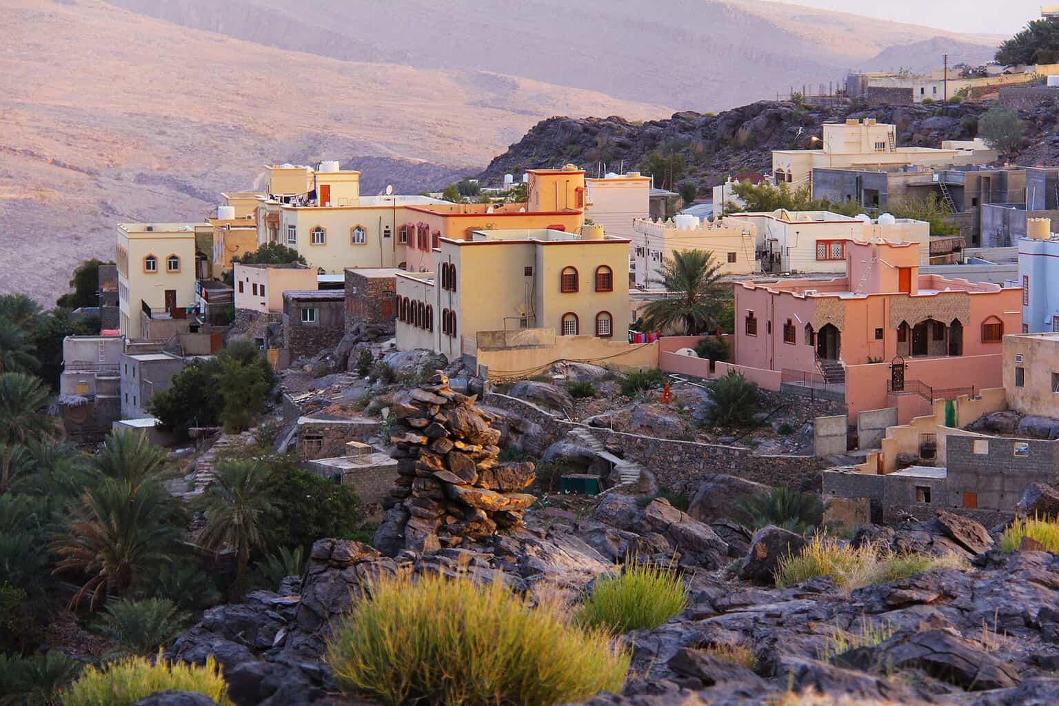 oman-village-sunset