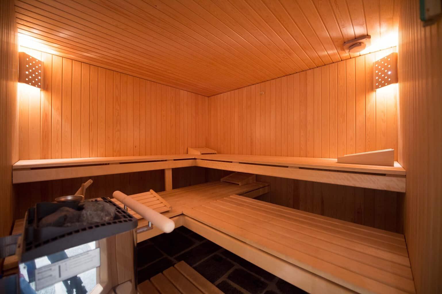 Sauna at Casa Prada