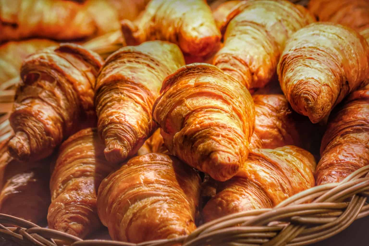 Close up of croissants